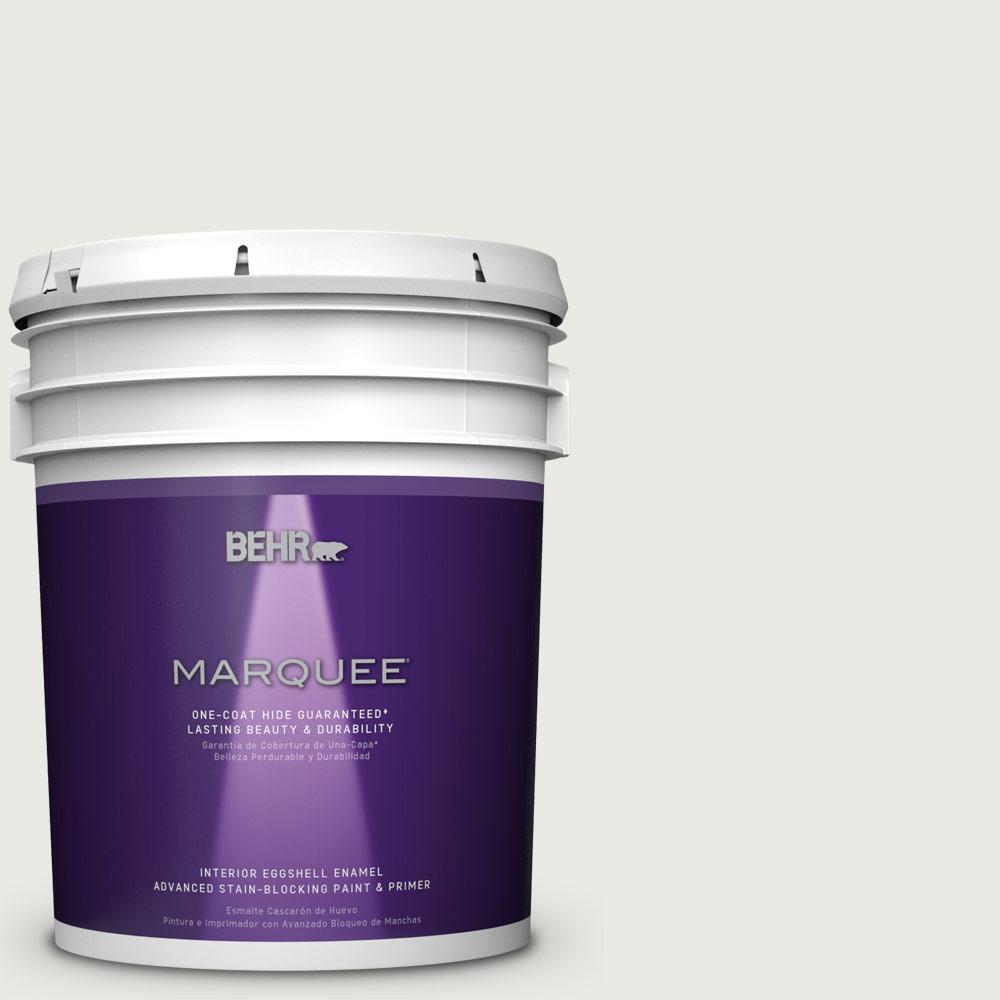 5 gal. #PPU24-14 White Moderne Eggshell Enamel Interior Paint