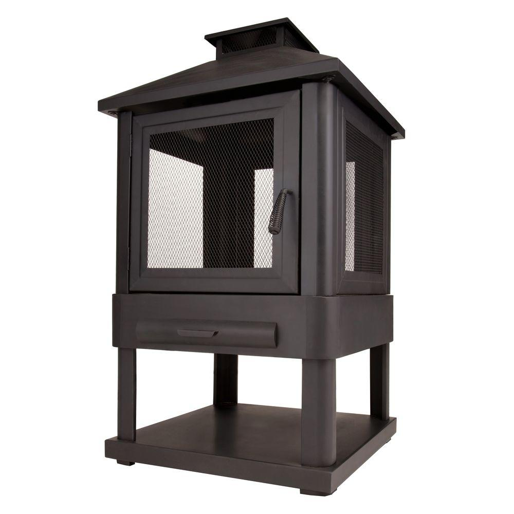 Real Flame Trestle 23 in. Wood Burning Outdoor Fireplace-DISCONTINUED