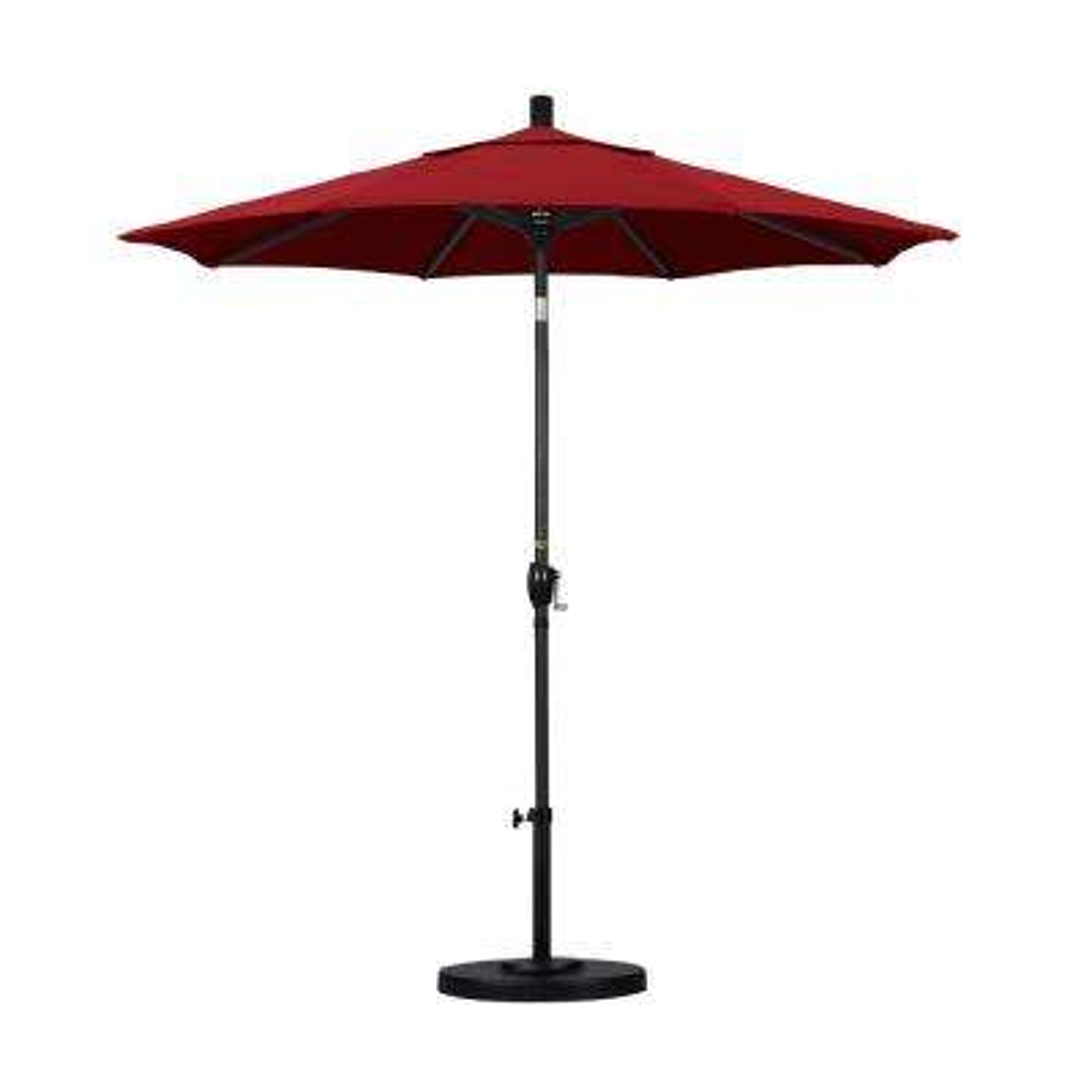 7-1/2 ft. Fiberglass Push Tilt Patio Umbrella in Red Olefin