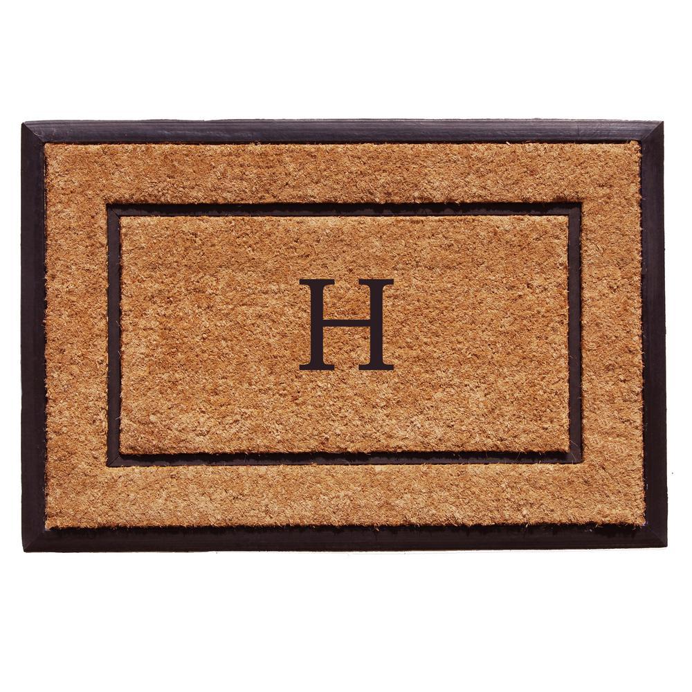 The General 24 in. x 36 in. Monogram H Door Mat