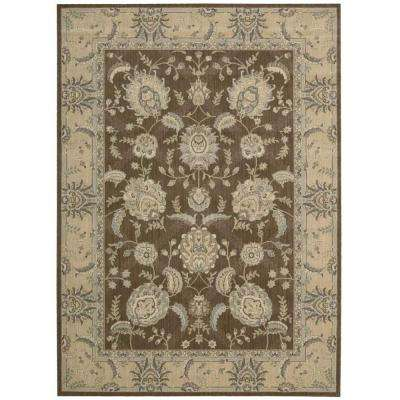 Persian Empire Chocolate 5 ft. x 7 ft. Area Rug