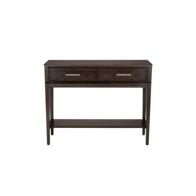 StyleWell Rectangular Smoke Brown Wood 2 Drawer Console Table (44 in. W x 35 in. H)
