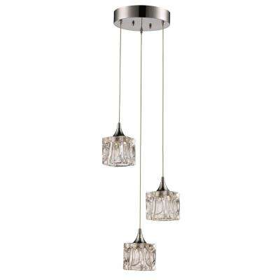 Andora 15-Watt Polished Chrome Integrated LED Pendant