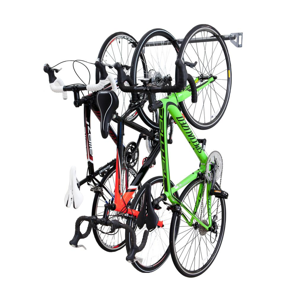 3-Bike Storage Rack  sc 1 st  The Home Depot & Monkey Bars 35 in. 3-Bike Storage Rack-01003 - The Home Depot