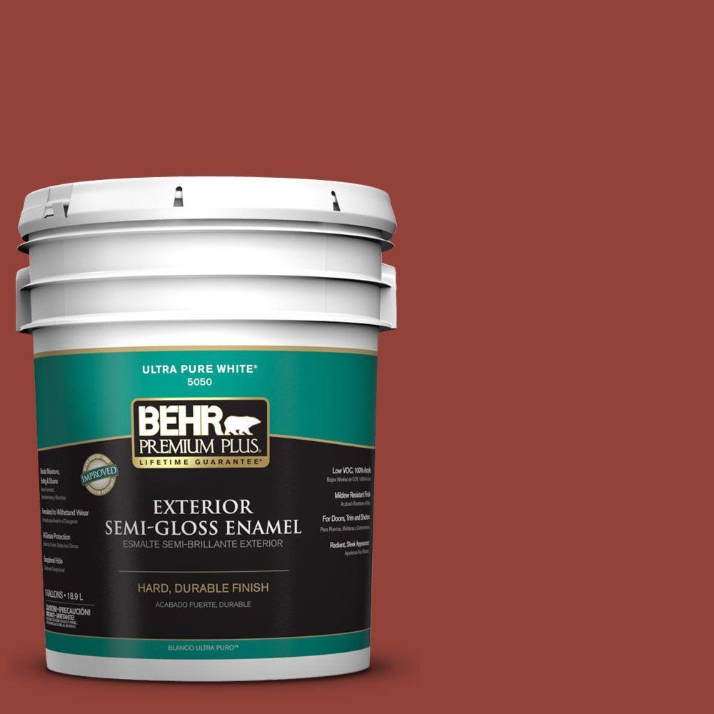 5-gal. #PMD-21 Autumn Maple Semi-Gloss Enamel Exterior Paint