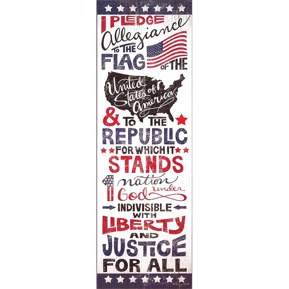 Red White and Blue Vertical Rectangle  Pledge Of  sc 1 st  Home Depot & 12 in. x 36 in. Red White and Blue Vertical Rectangle