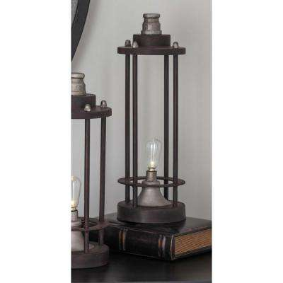 Vintage 13 in. Rusted Iron LED Lantern