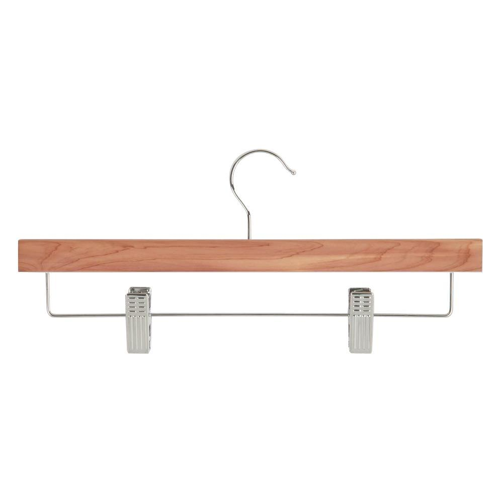 Honey-Can-Do Cedar Skirt and Pant Hanger with Clips (4-Pack)