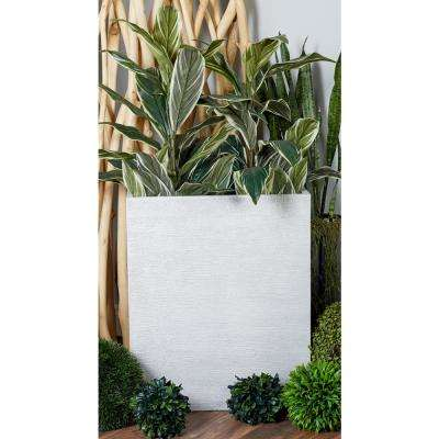 White Fiber Clay Rectangular Planters (Set of 2)