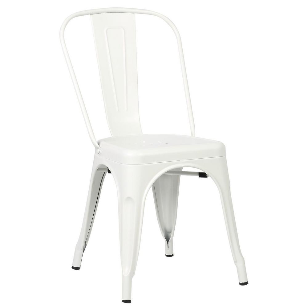 PolyandBark Poly and Bark Trattoria White Side Chair (Set of 2)