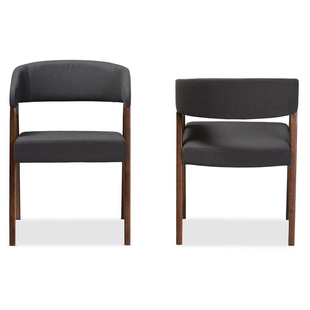 Tory Dark Grey Fabric Dining Chair (Set of 2)