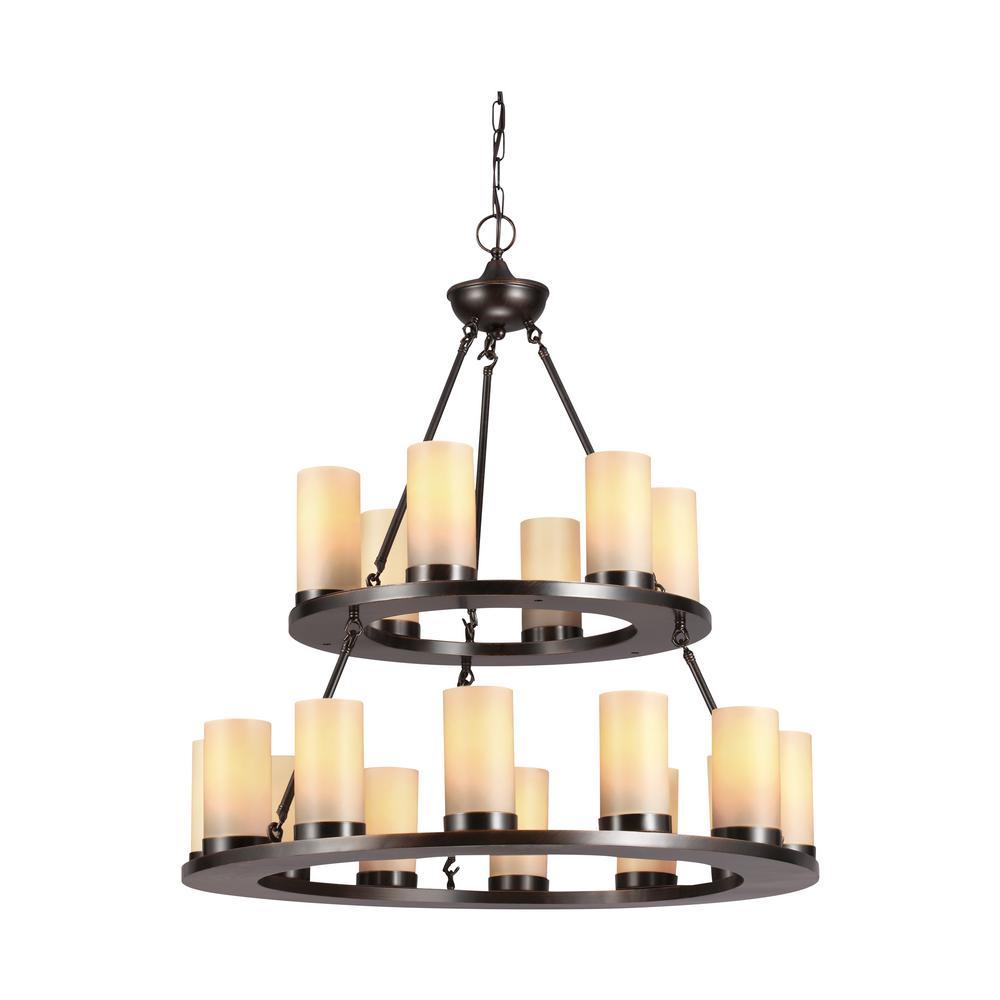 Ellington 18-Light Burnt Sienna Chandelier with LED Bulbs