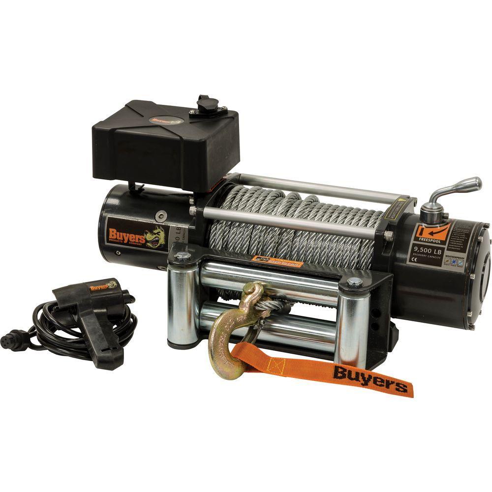 9,500 lbs. Electric Waterproof Winch