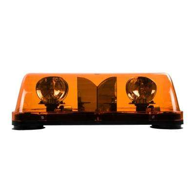 Warning Light 7-1/2 in Halogen Mini Light Bar Amber with Magnetic Mount