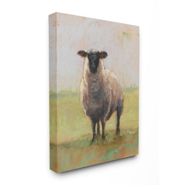 30 In X 40 Painterly Away From Flock Sheep By Ethan Harper Printed Canvas Wall Art