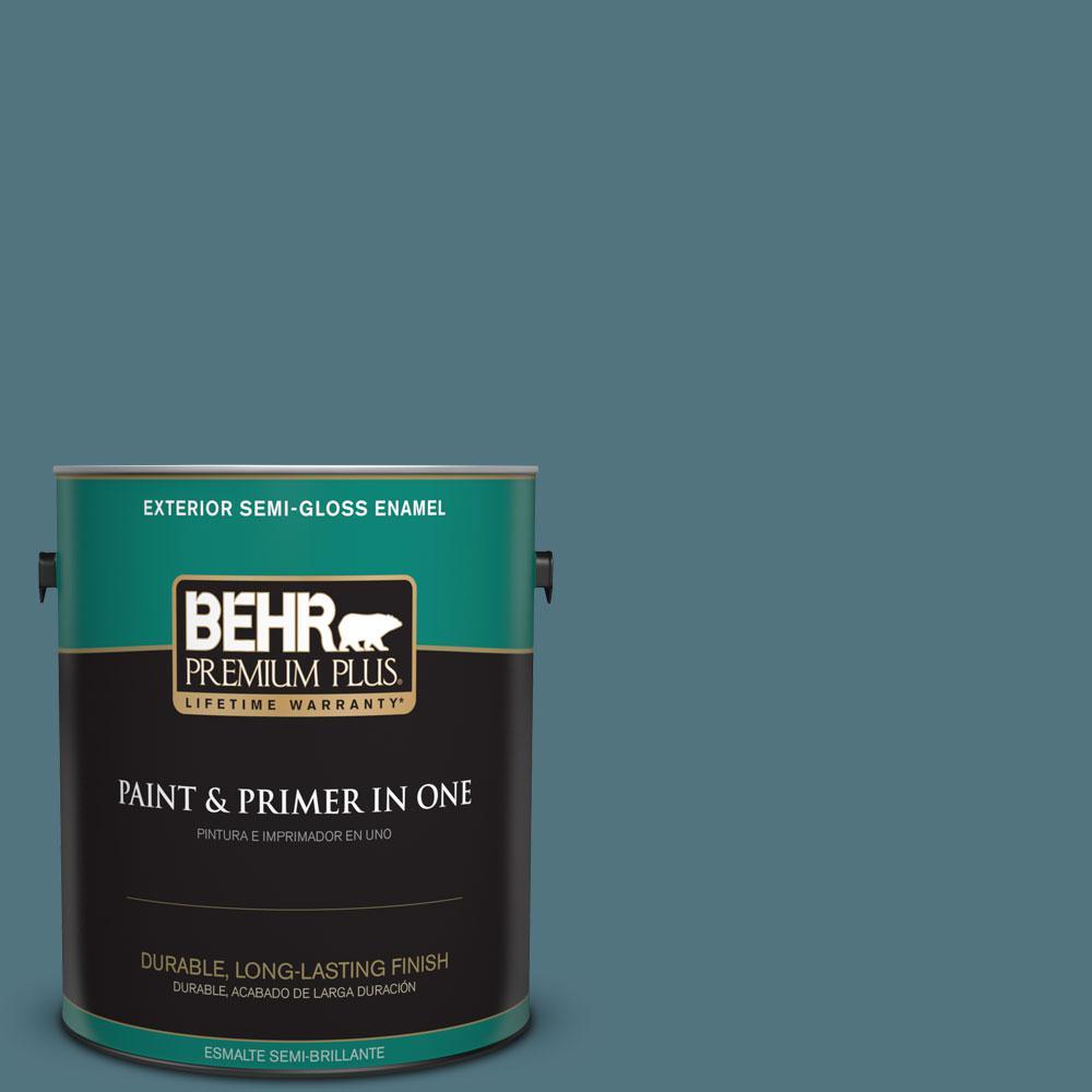 1-gal. #ECC-54-2 Country Lake Semi-Gloss Enamel Exterior Paint