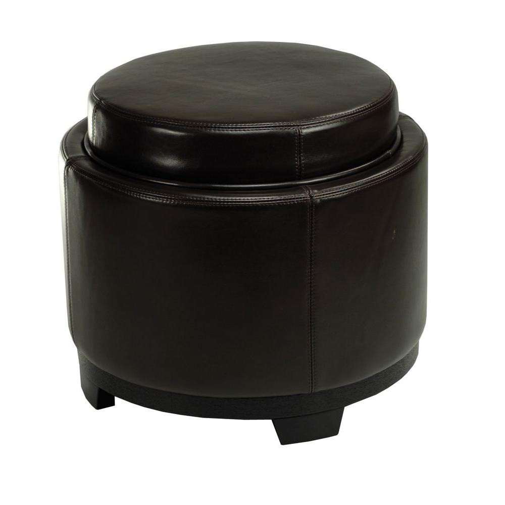 safavieh murray brown storage ottoman