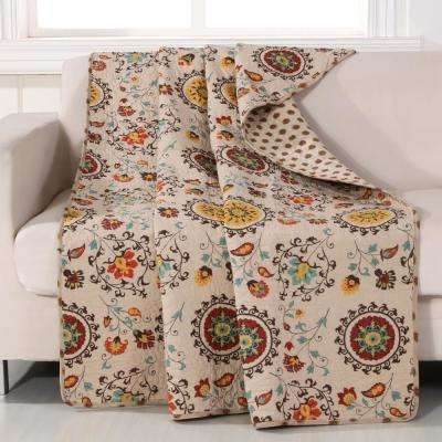 Andorra Multi Quilted Cotton Throw