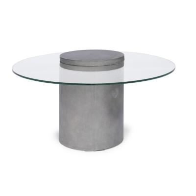 Illusion Gray Concrete and Glass Coffee Table
