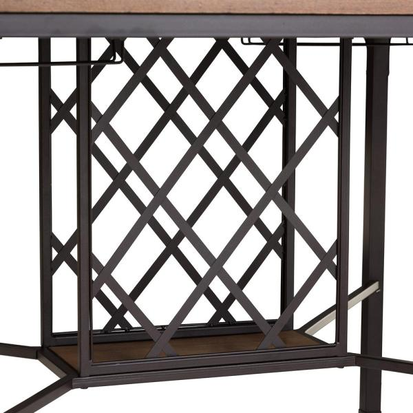 Baxton Studio Vintner 5 Piece Black Metal And Natural Wood Dining Set 5383 5385 Hd The Home Depot
