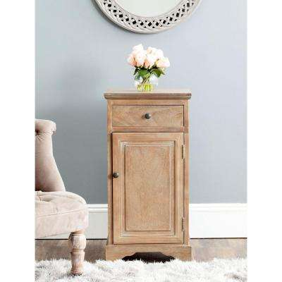 Jett Washed Natural Pine Storage Cabinet