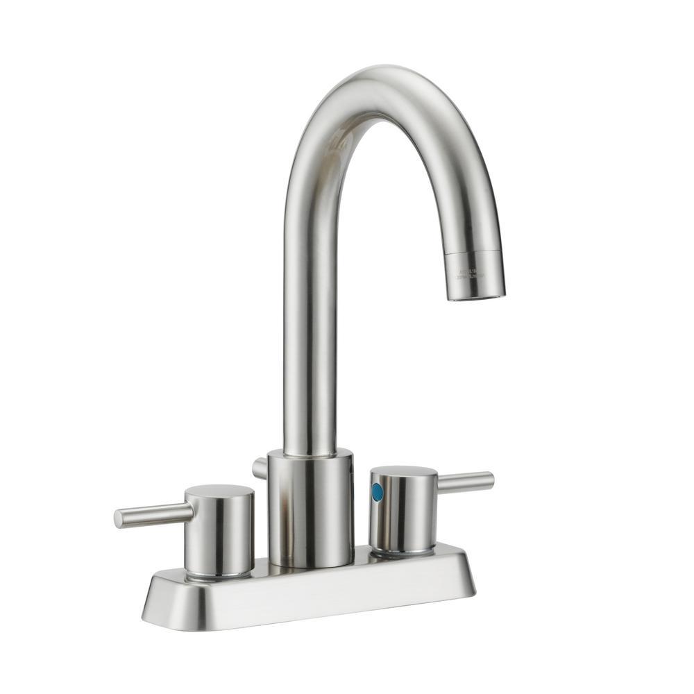 Design House Eastport 4 in. Centerset 2-Handle Bathroom Faucet in ...