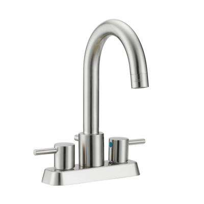 Eastport 4 in. Centerset 2-Handle Bathroom Faucet in Satin Nickel