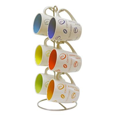 6-Piece Mug Set with Stand