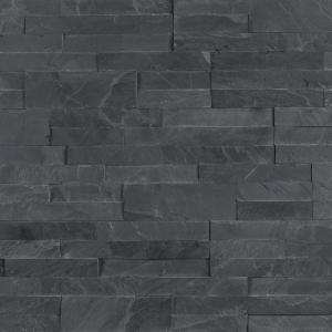 Veneer Peel and Stick Midnight Ash 6 in. x 12 in. Honed Wall Slate Tile (15 sq. ft./Case)