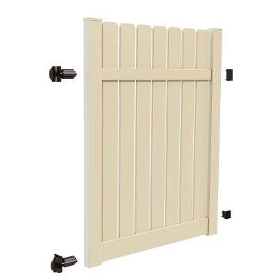 Sacramento 5 ft. x 6 ft. Sand Vinyl Drive Fence Gate Kit