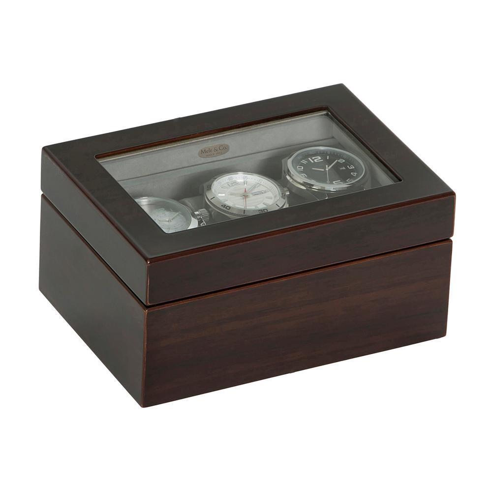Granby Mahogany Finish Wooden Watch Box