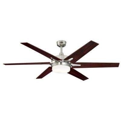 Cayuga 60 in. LED Brushed Nickel Ceiling Fan