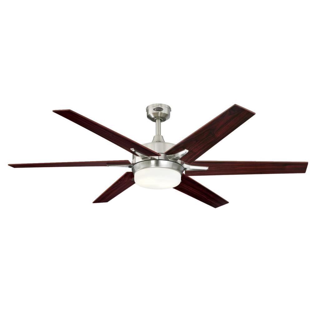 Westinghouse Cayuga 60 in. LED Indoor Brushed Nickel Ceiling Fan with Remote Control