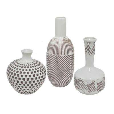 Merveilleux Ceramic Decorative Vase (Set Of 3)