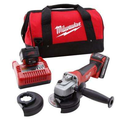 M18 18-Volt Lithium-Ion Cordless 4-1/2 in. Cut-Off Wheel and Grinder Kit with 2 Batteries