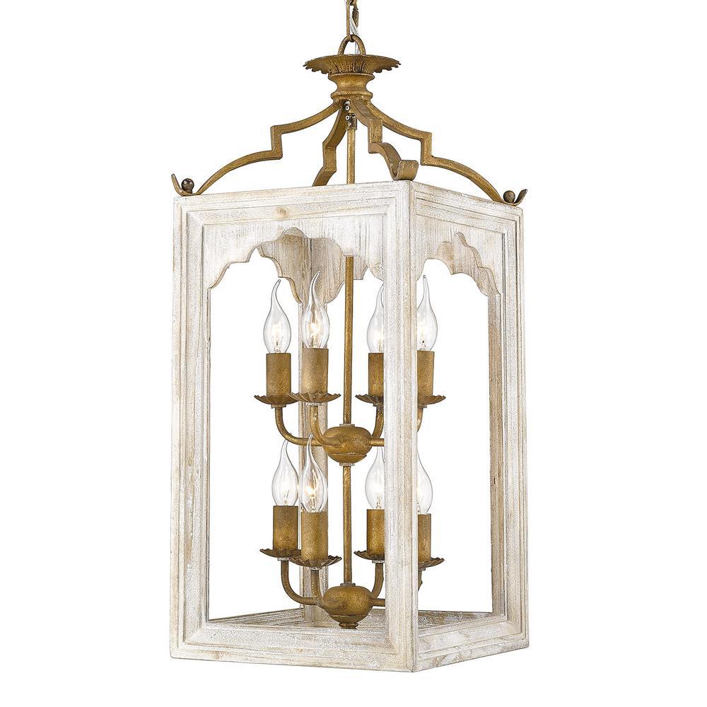 Jolliet 8-Light Burnished Chestnut Candle-Style Pendant
