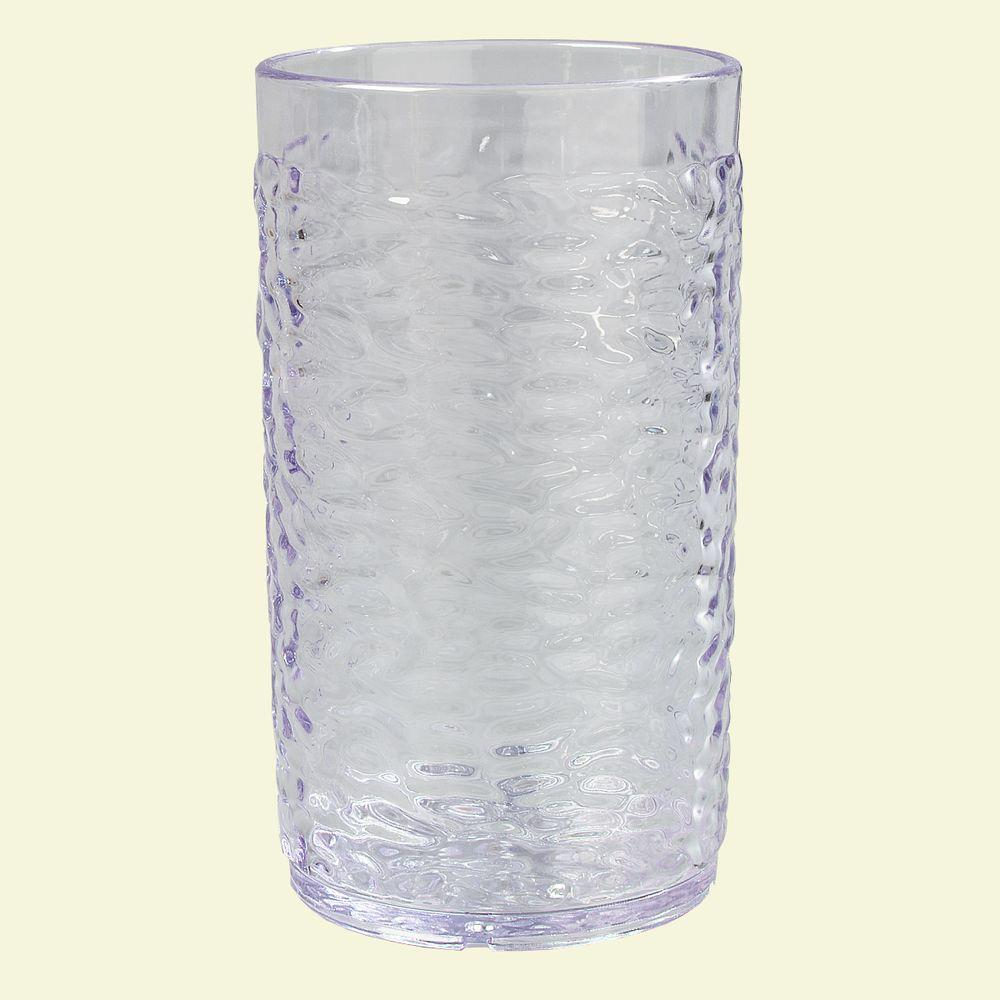 12 oz. SAN Plastic Pebble Optic Tumbler in Clear (Case of