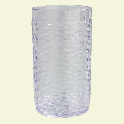 12 oz. SAN Plastic Pebble Optic Tumbler in Clear (Case of 24)