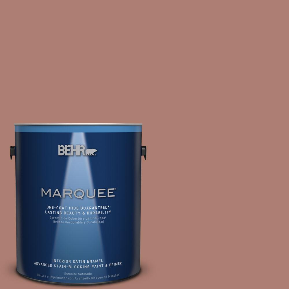 1 gal. #PPU2-11 Mars Red Satin Enamel Interior Paint and Primer