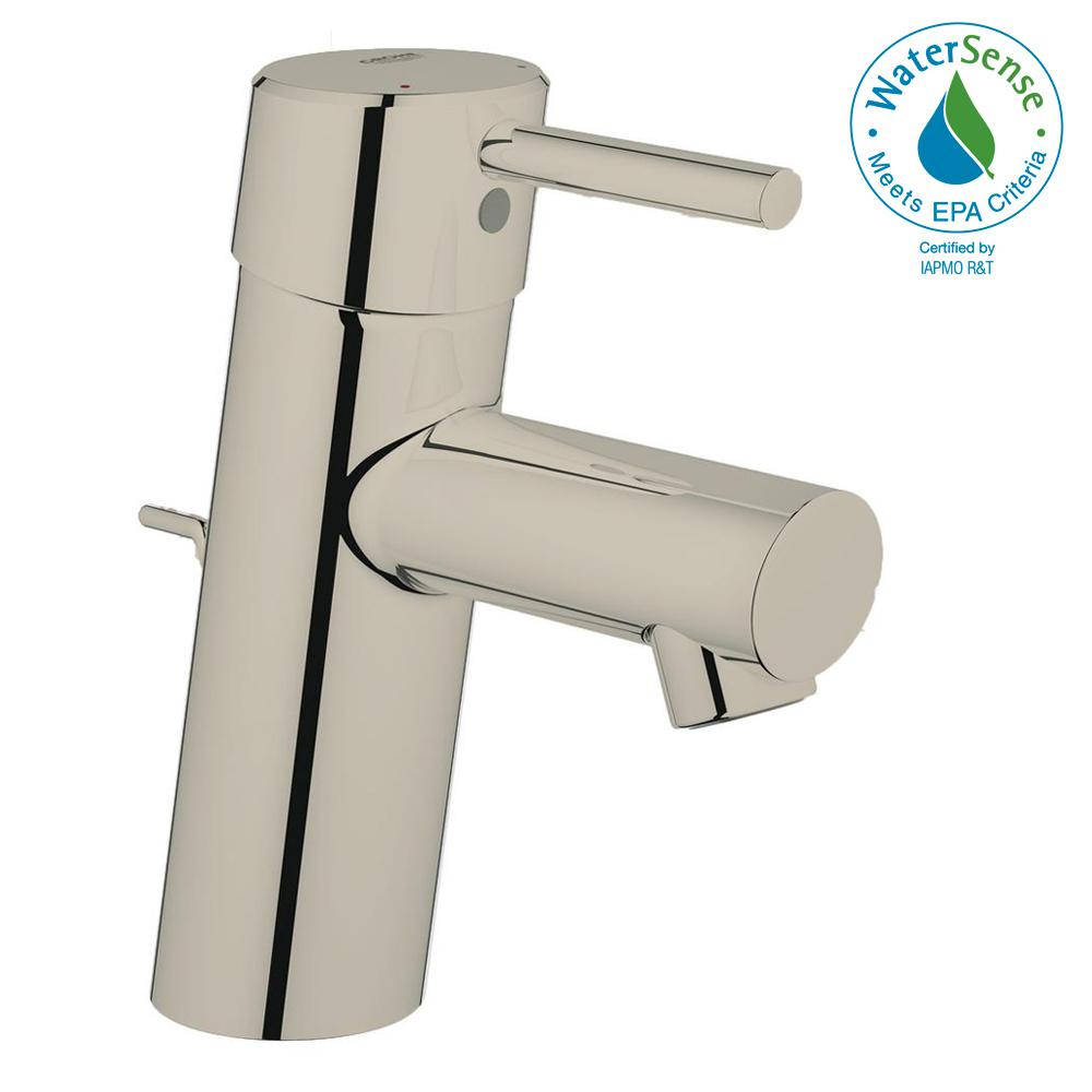 GROHE Concetto Single Hole Single-Handle Bathroom Faucet in Nickel ...