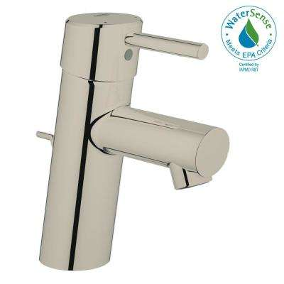 Concetto Single Hole Single-Handle Bathroom Faucet in Nickel Infinity Finish