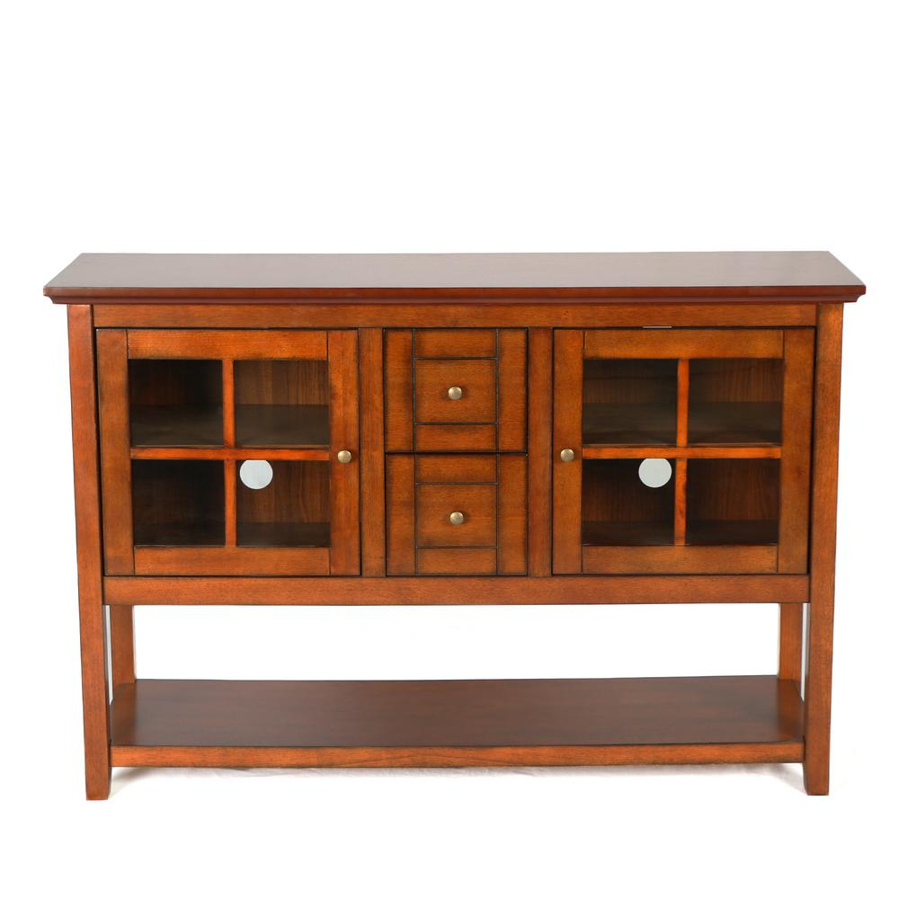 Walker Edison Furniture Company Rustic Brown Buffet With Storage