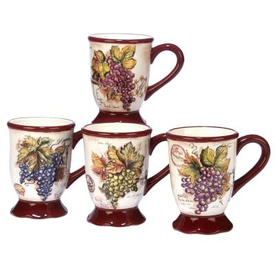 Vintners Journal 4-Piece Multi-Colored 18 oz. Mug Set
