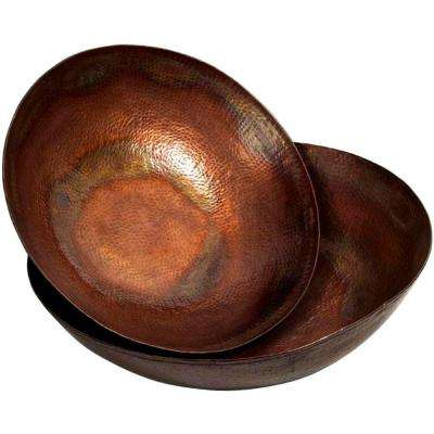 Copper-Plated Copper Iron Bowls (Set of 2)