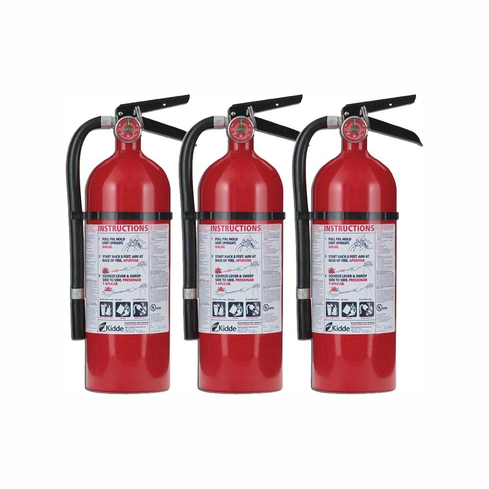 Kidde Pro 210 2 A 10 B C Fire Extinguisher 3 Pack