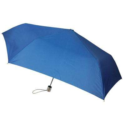 41 in. Arc Tiny Mini Auto Open and Close Umbrella in Sea Blue