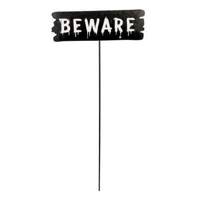 Amscan 20 In Halloween Beware Yard Stake 8 Pack 190779 The Home Depot
