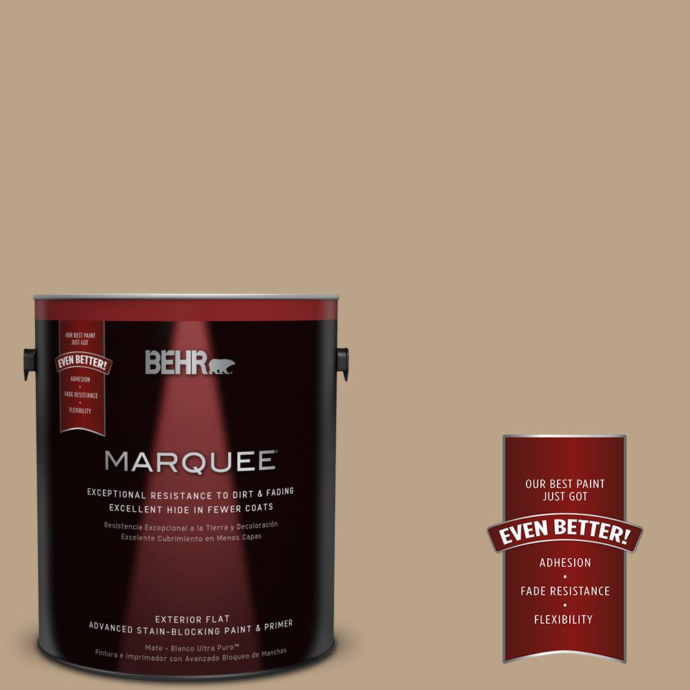 BEHR MARQUEE 1-gal. #710D-4 Harvest Brown Flat Exterior Paint