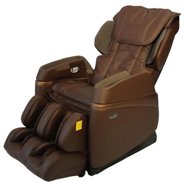 TITAN Osaki Brown Faux Leather Reclining Massage Chair OS-3700BROWN