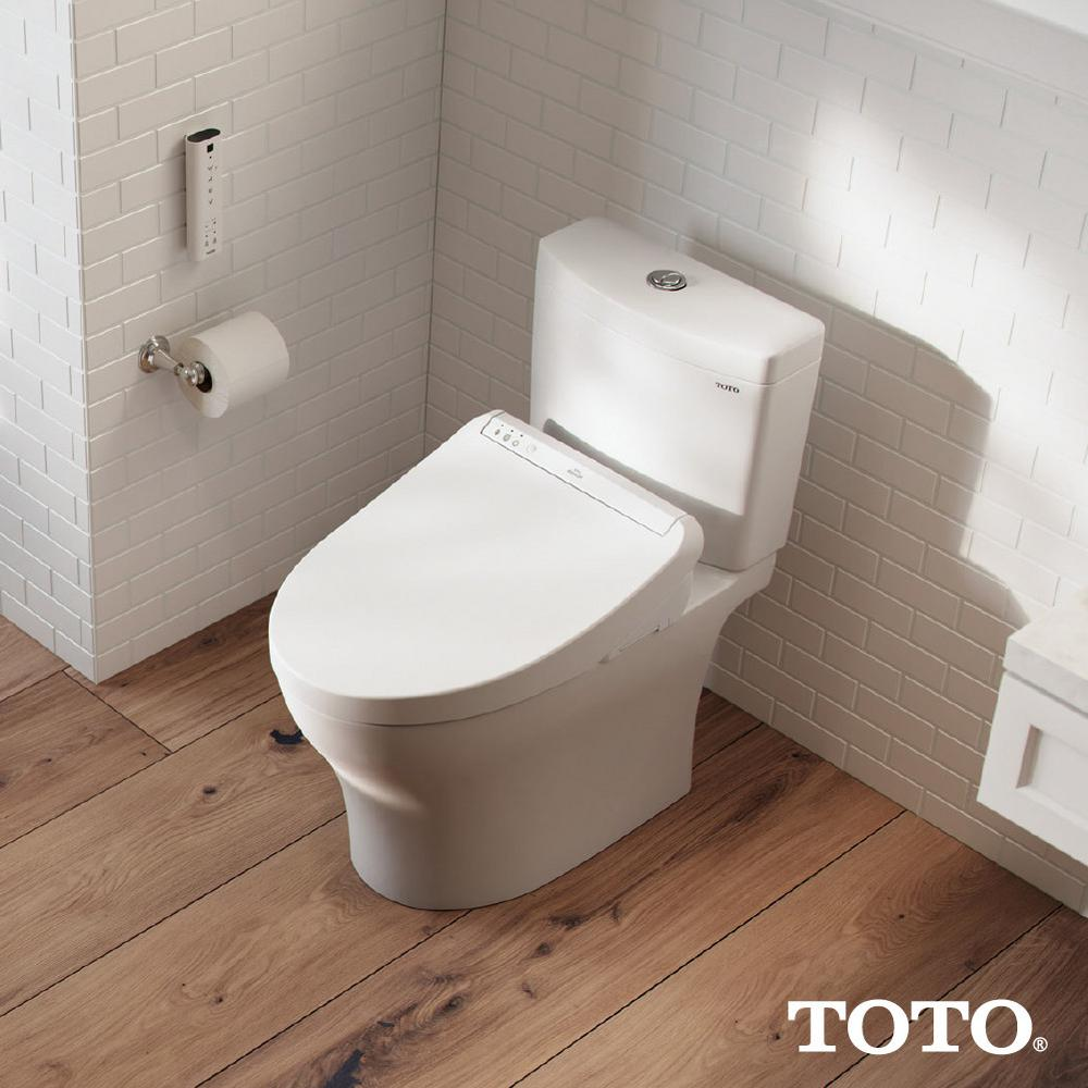Toto K300 Washlet Electric Bidet Seat For Elongated Toilet In Cotton White Sw3036 01 The Home Depot